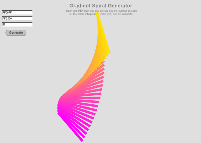 Gradient Spiral Generator in Adobe Edge Animate and Greensock