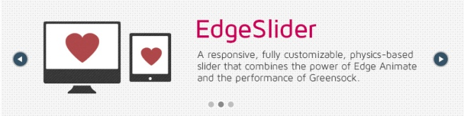 A responsive slide for Edge Animate