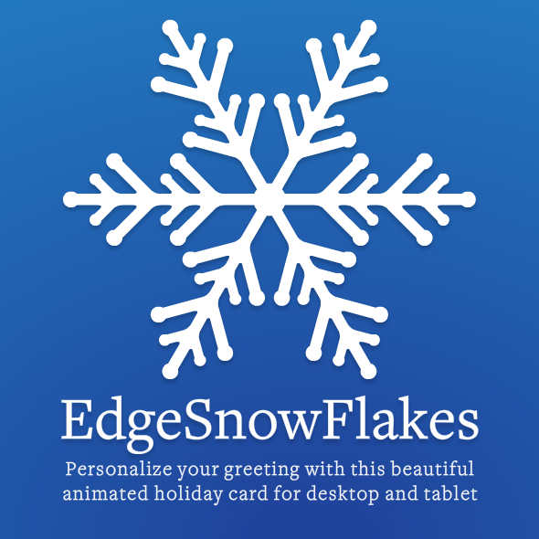 EdgeSnowFlakes: Personalized Animated Holiday Card